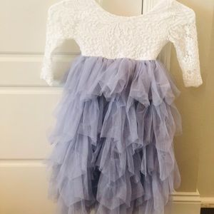 Other - Lace and tiered chiffon flower girl dress